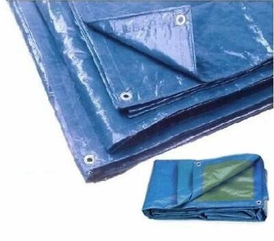 Telo Pvc Telone Occhiellato Esterno Impermeabile Esterno Blu Gazebo Piscina Wnd 2