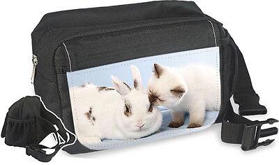 KANINCHEN & Katze - GÜRTELTASCHE Bauchtasche Hüfttasche Bag Tasche - TIF 03 2