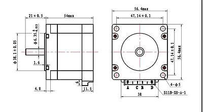 3D Printer  NEMA23 Stepper Motors - 1.8 deg - 6.35mm Shaft - Reprap & CNC 2