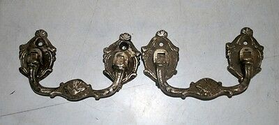 Old Antique India Brass Hand Carved Door Handle Pair Door Knob Home Decor 3