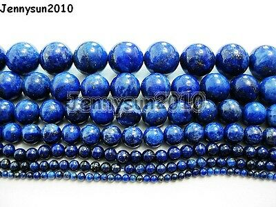 Natural Lapis Lazuli Gemstone Round Beads 15.5'' 2mm 3mm 4mm 6mm 8mm 10mm 12mm 7