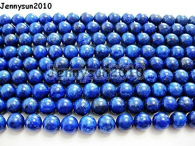 Natural Lapis Lazuli Gemstone Round Beads 15.5'' 2mm 3mm 4mm 6mm 8mm 10mm 12mm 8