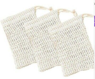 Eco Friendly Natural Sisal Wash Soap Bag Exfoliate Reusable Plastic-Free Shower 8