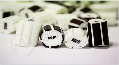 500g Rock Candy Wedding Favour/Bomboniere - Mr and Mrs, Fast Dispatch