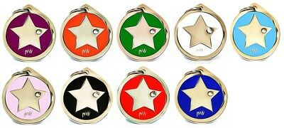 Personalised Engraved Pet ID Collar Tags Cat Dog Various Designs FREE UK DEL 5