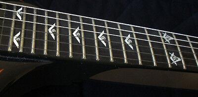 Blink 182 Tom Delonge Custom Strat MOP WHITE PEARL Decal Inlay for BASS & GUITAR 3