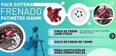 Pinza hidráulica ZOOM XTECH +DISCO 120mm + SOPORTE Aluminio para Xiaomi M365.24H 4