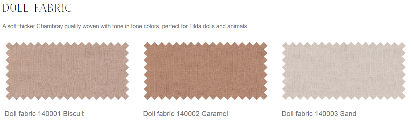 Gold Sand Tilda Doll Skin Cotton Fabric Rag dolls 50cm x 55cm Art dolls
