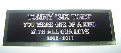 Engraved Nameplate Custom Plaques  Display Cases *blackbrass Not Aluminum* 3