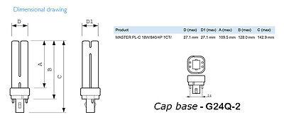 Philips Kompaktleuchtstofflampe MASTER PL-C 18W 2700K 4P G24q-2