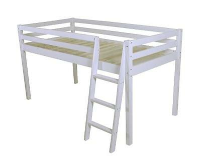 1 Of 5FREE Shipping SHORTY Cabin Bed Mid Sleeper Loft Bunk Kids Childrens Tents White Wooden 2FT 6