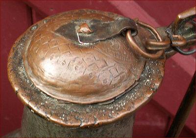 Large Islamic Ottoman Ewer Aquamanile Tinned Copper 17th C 4