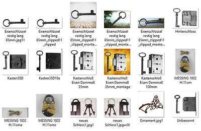 Schrauben 2 x lose für Schrank Seiten Kronen Verbindung Restaurierungsbedarf