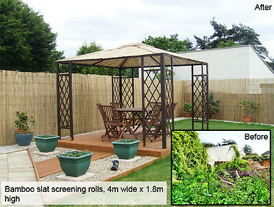 BAMBOO SCREENING ROLL Screen Fencing Garden Fence Panel Outdoor 4m Long 2