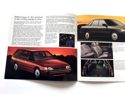 1991 Subaru Exterior Color Paint Car Brochure Guide Legacy XT Loyale Justy