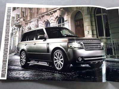 2010 Land Rover Range LR4 LR2 32-page Original Car Sales Brochure Catalog