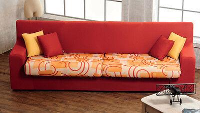 Biancaluna Copristruttura 3 posti Copridivano Genius 180 a 250 cm R457 Arancione