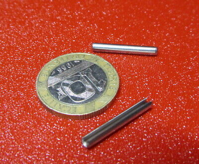 18-8 Stainless Steel Slotted Metric Spring Pin M2.5 Dia x 20 mm Length, 200 pcs 5