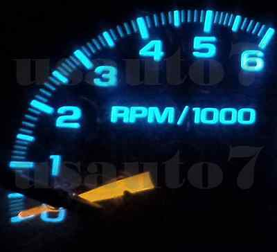 95-98 CHEVY C1500 K1500 Truck Dash Cluster Gauge Aqua/ice Blue SMD LED  LIGHT KIT