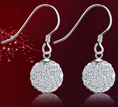 Women Girl Sterling Silver Dangle Star Charm Hoop Stud Earrings Gift Box F28