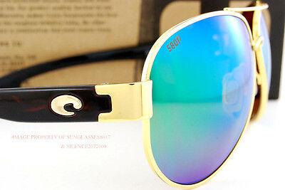fac29c38b2 ... New Costa Del Mar Sunglasses SOUTH POINT Gold Green Mirror 580P  POLARIZED 5