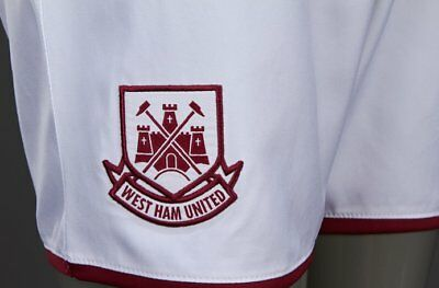Umbro 2015/16 West Ham United Junior Kids Home Kit Football Shorts Hammers 4