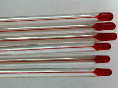 Glass thermometer 0~200 Celsius 6mm OD 300mm non-Hg 2