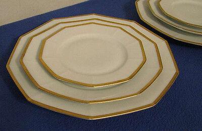 6 VINTAGE GERMAN Tirschenreuth Porcelain China Plates 2 Each 10 Sided 6