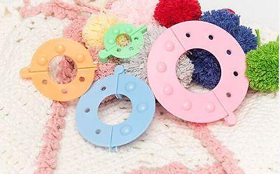 Hot Sale 8pcs Essential Pompom Maker Ball Fluff Weaver Needle Knitting Tool DIY 2