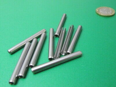 18-8 Stainless Steel Slotted Metric Spring Pin M4 Dia x 40 mm Length, 30 pcs 11