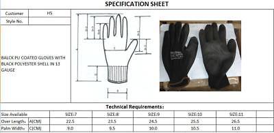 24 Pairs Nylon Pu Coated Safety Work Gloves Gardening Builders Mechanic Grip 6