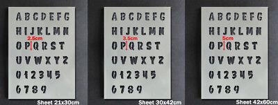 Halloween Stencil Alphabet A-Z 0-9 Letters Numbers Paint Customise Reusable 2