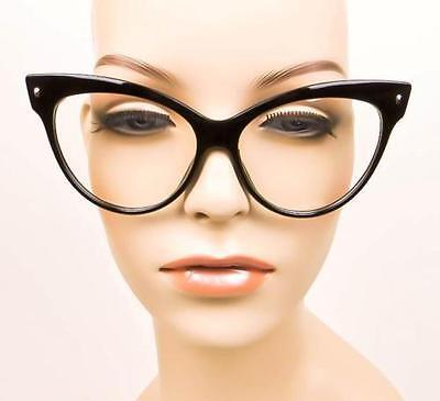0638cb5538a CAT EYE OVERSIZED Sexy Big Rockabilly Glasses Eyeglasses Designer Large  Frames L