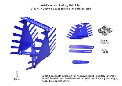 Desktop Siebdruck Squeegee Rack Spachtel Halter Veranstalter Regale Werkzeug 9