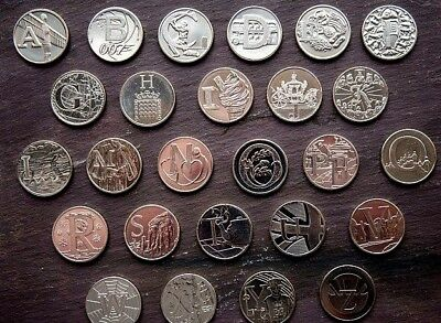 CHEAP 2018 & 2019 A - Z COINS ALPHABET 10p COINS TEN PENCE ANGEL BOND ROBIN TEA 2