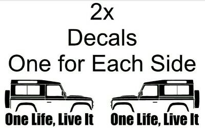 STICKERS ADESIVI Mountain SILHOUETTE fuoristrada 2x ONE LIFE LIVE IT 4x4 sagomate