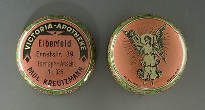 - Jugendstil Blechdose VICTORIA mit ENGELMOTIV (aus Wuppertal) um 1910 -