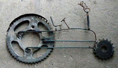 Scrap Metal Art Sculpture Tractor Mower Motorcycle Mx Wall Art Desk Art Welded 107 70 Picclick Uk