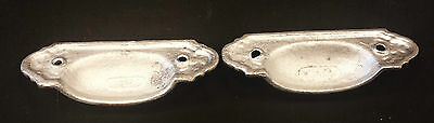 2 Matching DRAWER PULLS EMBOSSED CAST IRON  VICTORIAN STYLE 3