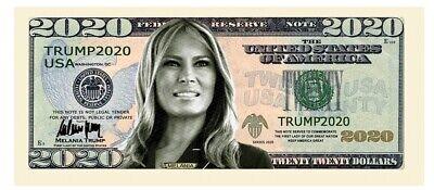 Melania Trump 2020 Dollar Bill Presidential MAGA Novelty Funny Money with Holder 2