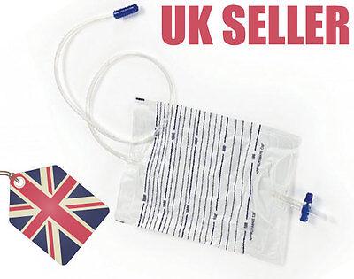 2000ml Urine Catheter Bag + Foley Catheter + Syringe CH08-CH24, Sterile 2