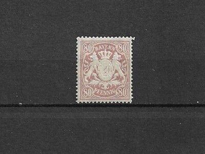 Bayern 1875 - 1900, Einzelmarken aus MiNrn: 32 - 75 **/*, ungebraucht **/* 2