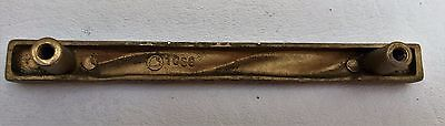 "Brass Antique Hardware French Country MCM Drawer Pull Cabinet Handle 4""center 9"