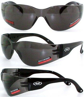 Shatterproof Anti-Fog Wraparound UV400 Motorcycle Sunglasses/Biker Wraps + Pouch
