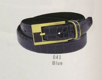 STACY ADAMS MEN/'S PINSEAL LEATHER  BELT,BLUE NEW WITH TAGS!!