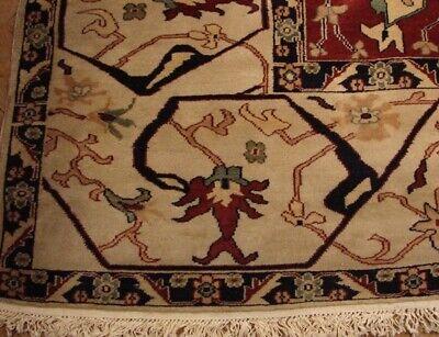 12x18 (141 x 212 in) Chobi Beige Wool Egyptian Fine Quality Handmade Rug 4