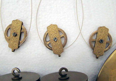 German Gustav Becker 3 Weight Grand Sonnerie Vienna Regulator Clock Movement Set 5