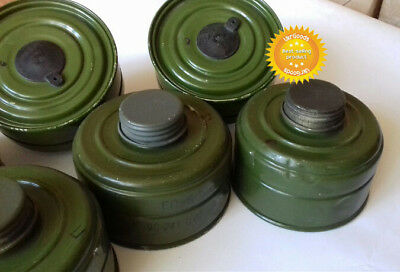 6 pcs New Charcoal Filters for Soviet Russian Military Gas mask GP-5 40mm 5