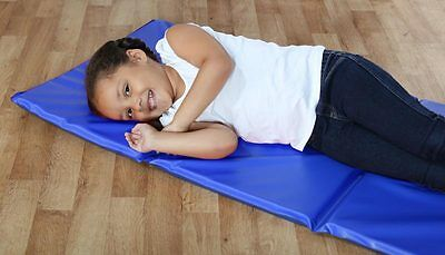 Triple Folding Nursery Sleep Mat in Blue Pink for Children /& Toddlers