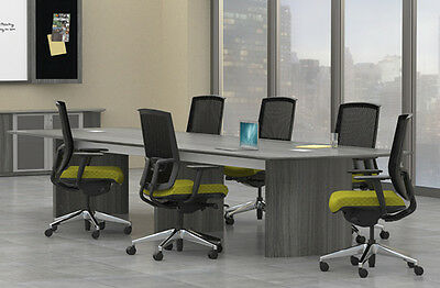 6 Of 9 8ft   14ft Modern Conference Table Meeting Room Boardroom Office  Furniture NEW